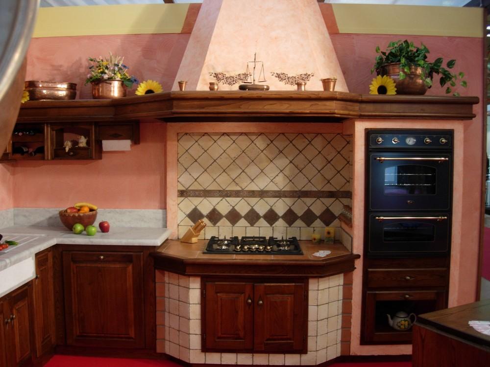 mod. cucina rosa - paino mobili - Cucine Rosa